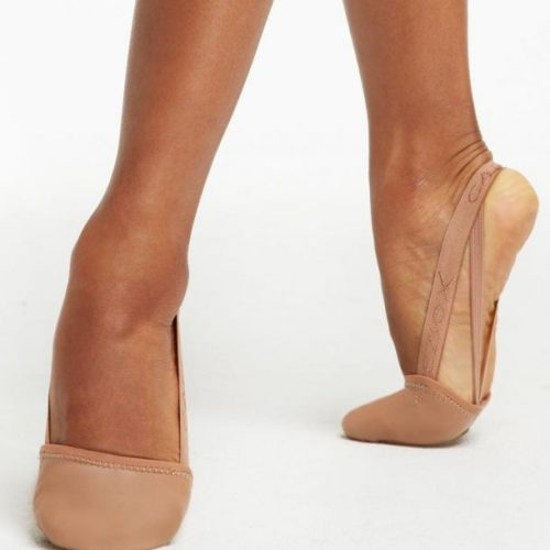 Capezio Leather Pirouette II Dark Suntan